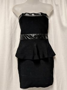 Bebe Bandage Tube Bodycon dress black size M NEW!